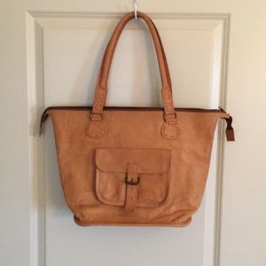 Noonday collection rustic leather tote